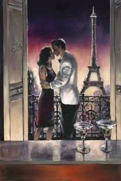 Paris Kiss by Brent Heighton