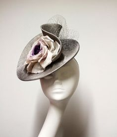 Jane Taylor curled silk sinamay perching hat