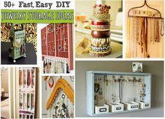 50+ Fast, Easy DIY Jewelry Storage Ideas