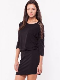 b03cf34bb1a VERO MODA Crochet Mesh Panelled Dress buy form koovs.com Buy Dress