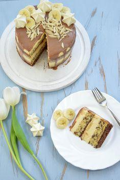 Banana-Split Törtchen Tiramisu, Banana, Ethnic Recipes, Food, Pies, Vanilla Cream, Food Food, Bakken, Eten