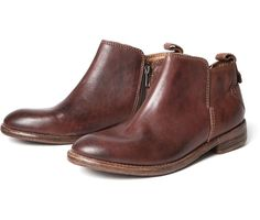 Women's Revelin (Chocolate) Leather Ankle Boot | H Shoes