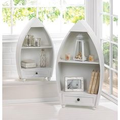Shop for Gables Nautical Wooden Curio (Set of 2). Get free shipping at…
