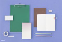 Stationary Mockup with Purple – Premium Image by rawpixel.com