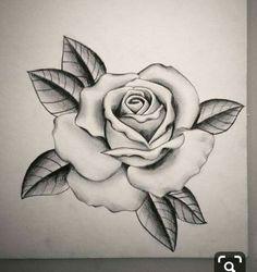 Hergestellt von Stella Luo Tätowierern in Toronto, Kanada - rose tattoos Rose Drawing Tattoo, Tattoo Sketches, Tattoo Drawings, Rose Outline Drawing, Rose Zeichnung Tattoo, Tattoo Crane, Rosen Tattoo Frau, Pencil Drawings Of Flowers, Rose Flower Tattoos