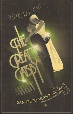 The Great Gatsby by Adrian Mays, via Behance