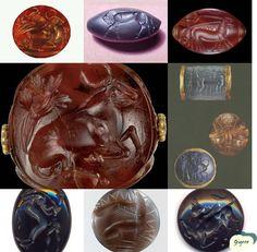 Minoan fine seal gems & stones Crete Greece