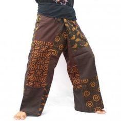 Thai fisherman pants patchwork size M