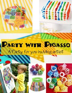 Image detail for -The High Heeled Hostess: An Art Party Art Birthday, Birthday Ideas, Birthday Parties, Kid Parties, Birthday Week, Rainbow Birthday, Birthday Celebrations, Art Party Cakes, Art Cakes