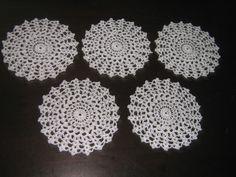 toalhas de crochê / jogo 5 peças cod a55