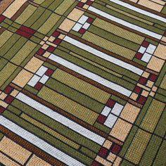 Frank Lloyd Wright Oak Park Skylight Tapestry Table Runner