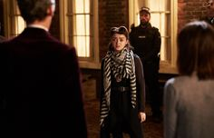 Peter Capaldi, Jenna Coleman, Maisie Williams, and Antonio Bustorff in Doctor Who Doctor Who Season 9, Doctor Who Series 9, Doctor Who 2005, Doctor Who Episodes, Ninth Doctor, Tv Episodes, Doctor Who Tumblr, Latest Gossip, Clara Oswald