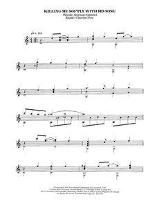 Roberta Flack: Killing Me Softly With His Song - Partition Guitare Classique - Plus de 70.000 partitions à imprimer !
