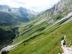 Gentle walking ascending the path to the Petit Mont Blanc just above Pralognan la Vanoise