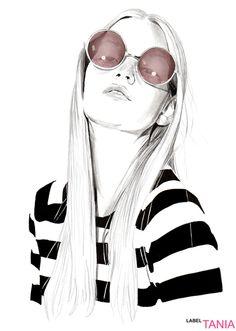 Tania Label Fashion Illustrations #sunglassglam #chinup #favorite