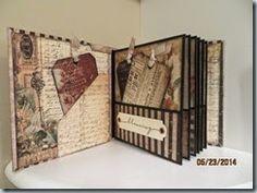 Scrapadabadoo: Time Travelers Mini Album By Gwen Casteel Mini Photo Albums, Album Photo, Mini Scrapbook Albums, Scrapbook Pages, Book Crafts, Paper Crafts, Album Vintage, Travel Album, Mini Album Tutorial