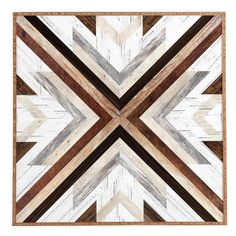 DENY Designs Geo Wood 1 by Iveta Abolina Framed Graphic Art Size: