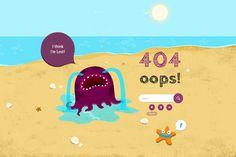 cute 404 pages via desginnerves: http://designerves.com/article/creative-404-pages-inspiration/#