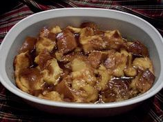 For Rosh Hashana: Crock Pot Honey and Apple Bread Pudding