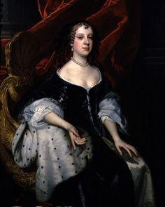 Catherine of Braganza, Queen of Britain, wife of Charles II.  Catarina nunca deu à luz um herdeiro, apesar de ter estado grávida por várias vezes, a última das quais em 1669. Sua posição era difícil, já que Carlos continuava a ter filhos de suas amantes, mas insistia em que ela fosse tratada com respeito e recusou divorciar-se. Chegou mesmo a ser acusada de maquinar a morte do marido por sugestão do pontífice e outros príncipes católicos.