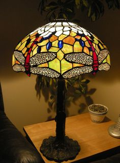 Lamp repair from Colchester all finished and lit up. Stained Glass Lamps, Picture Show, Light Up, Table Lamp, Home Decor, Table Lamps, Decoration Home, Room Decor, Home Interior Design