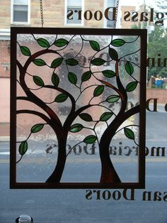 Stained glass window trees...