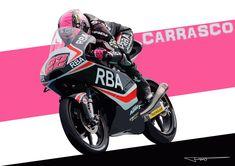 Ana Carrasco. KTM. Moto3. Dibujo Vectorial.
