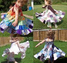 Tiered Quilt Skirt Dresses
