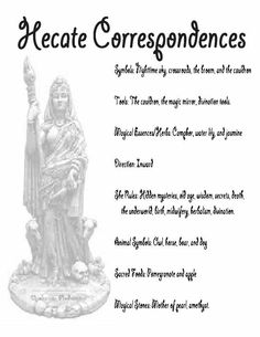 Hecate Correspondences Year and a Day book Opalraines Production Wiccan Magic, Wiccan Witch, Magick Spells, Wicca Witchcraft, Hecate Goddess, Moon Goddess, Wiccan Spell Book, Greek Gods And Goddesses, Triple Goddess