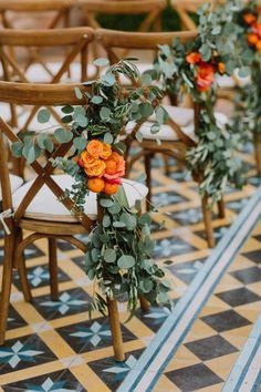 Intimate Coral And Orange Open Bar Wedding eucalyptus orange and rose wedding aisle decor Open Bar Wedding, Wedding Set Up, Rose Wedding, Fall Wedding, Wedding Ceremony, Gothic Wedding, Reception, Wedding Church, Rustic Wedding