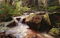 Tibor Nagy ~ Impressionist paintings of Slovakia that resonate with substance, energy, and emotion. Impressionist Landscape, Impressionist Paintings, Seascape Paintings, Nature Paintings, Beautiful Paintings, Abstract Landscape, Landscape Paintings, Landscape Design, Waterfall Paintings