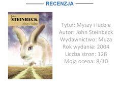 """Mozaika Literacka: [RECENZJA] """"MYSZY I LUDZIE"""" - JOHN STEINBECK"""
