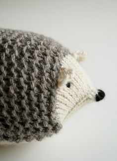 Knit Hedgehogs from the purl bee