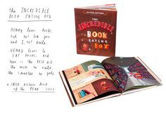 The Incredible Book Eating Boy is another amazing book by Oliver Jeffers. A boy who eats books, but learns instead to loves them!