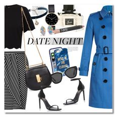 """Date & Night"" by vkmd ❤ liked on Polyvore featuring Burberry, Gucci, Myku, Natalie B, Kate Spade, Miss Selfridge, Prada, Ted Baker, Chloé and Yves Saint Laurent"