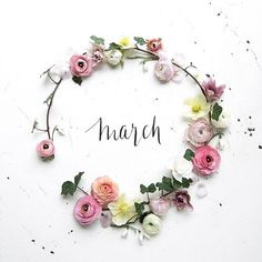 Time to brighten things up a bit over here! Happy new month lovelies 💐 Source March Month, New Month, February, Seasons Months, Months In A Year, 12 Months, Frühling Wallpaper, Calendar Wallpaper, Month Flowers