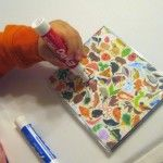 Mini-Whiteboard becomes Animal �I Spy� // this would be fun to do with leftover stickers for a car activity!!