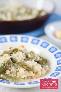 #risotto ze szparagami - #przepis na #szparagi w risotto  http://pozytywnakuchnia.pl/risotto-ze-szparagami/  #kuchnia #obiad