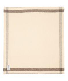 """Suffolk Stripe Undyed 100% Wool Blanket (60""""""""x70"""""""")"""