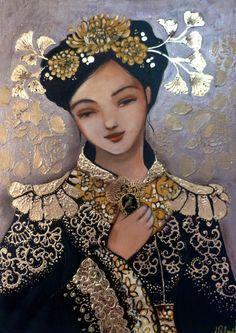 Portraits, Portrait Art, Bad Art, Diy Crafts Jewelry, Happy Women, Best Artist, Figurative Art, Pattern Art, Illustrations