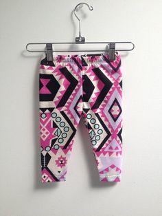 littlefour southwestern baby leggings NB 3M by littlefourclothing, $25.00 #boho #bohemian #tribal