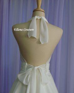 Liliana Retro Inspired Tea Length Wedding Dress.