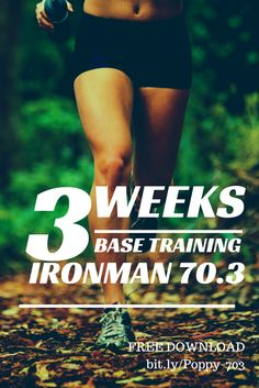 Free download of the first three weeks of base training from our signature half Ironman training program. Never have to wonder again how you should build base fitness! http://poppysports.leadpages.net/basetraining/ #ironman #halfironman #70.3 #triathlon