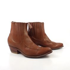 Boots Ankle Vintage 1990s Brown Destroyer by purevintageclothing