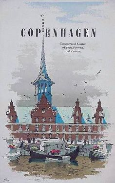 Want to get there someday! Copenhagen | Vintage travel poster | Des Asmussen