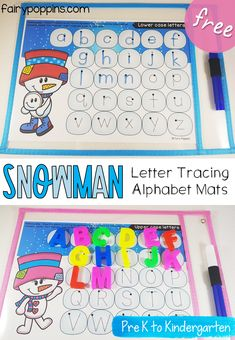 These FREE snowman letter tracing mats are a great addition to alphabet centers. They help kids learn about the correct letter formation of lower case and upper case letters. They're also fun to use with magnetic letters as a matching activity. Bucket Filling Activities, Snow Activities, Winter Activities For Kids, Counting Activities, Alphabet Activities, Kindergarten Activities, Preschool Winter, Preschool Alphabet, Alphabet Crafts