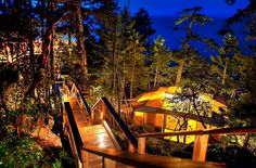"""Rockwater Secret Cove Resort, on the Sunshine Coast in British Columbia.  We stayed there for uor """"babymoon,"""" before Wee Elsie arrived.  Fanciest tenting ever."""