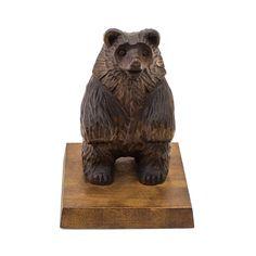 Wooden figurine, Wood figurine, Handmade figurine, Wooden figurines,  Brown wood figurine,  Figurine of bear, bear, wooden bear, carved bear by WoodCarvingStore on Etsy