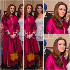 Preity Zinta in Manish Malhotra anarkali. Indian fashion