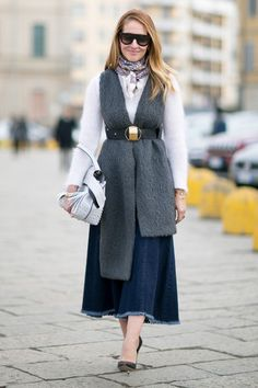 Pin for Later: The Best Street Style Looks From Milan Fashion Week Day 1 Top Street Style, Milan Fashion Week Street Style, Milano Fashion Week, Autumn Street Style, Cool Street Fashion, Street Style Women, Business Fashion, Fall Fashion Trends, Autumn Fashion